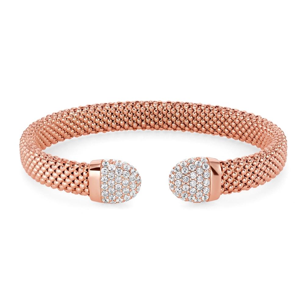 925 Sterling Silver Italian PopCorn Style Bracelet