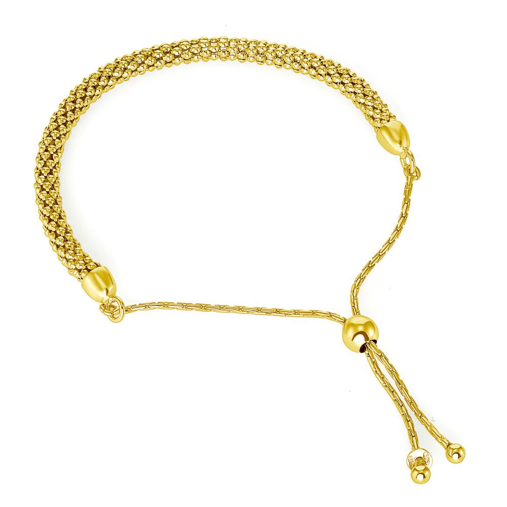 Sterling Silver Popcorn Extendable Bracelet