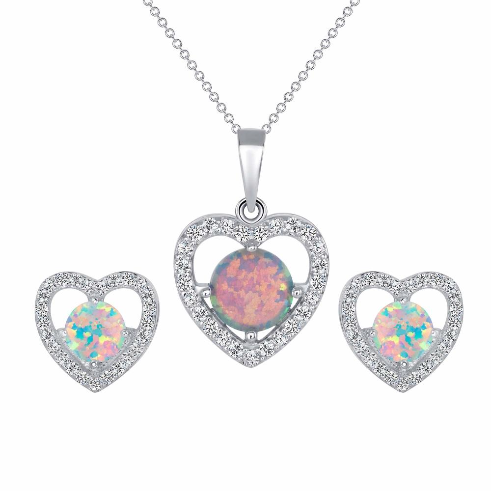 Sterling Silver Opal Set