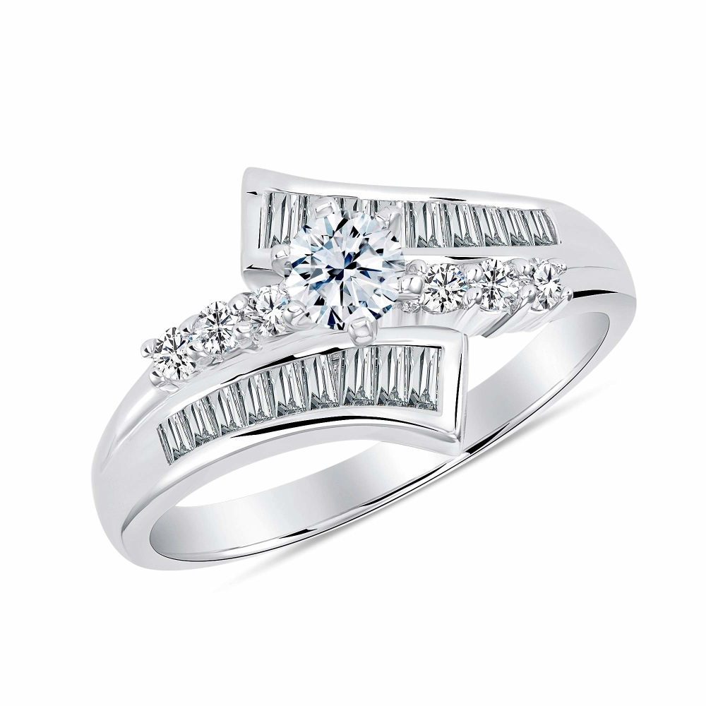Sterling Silver Side Way Marquise Solitaire Ring