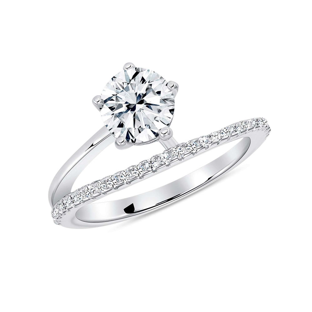 Sterling Silver Endless Round Cz Ring