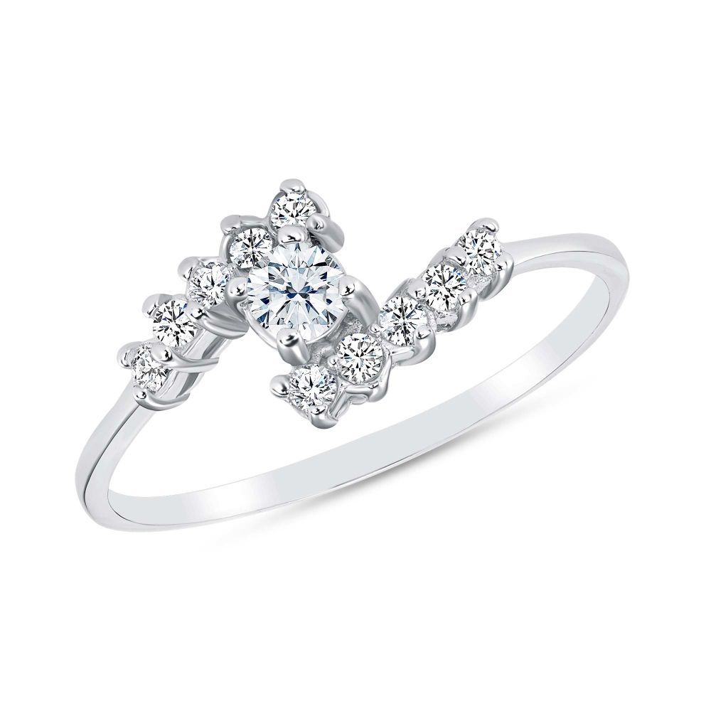 Sterling Silver Dainty Endless Solitaire Ring