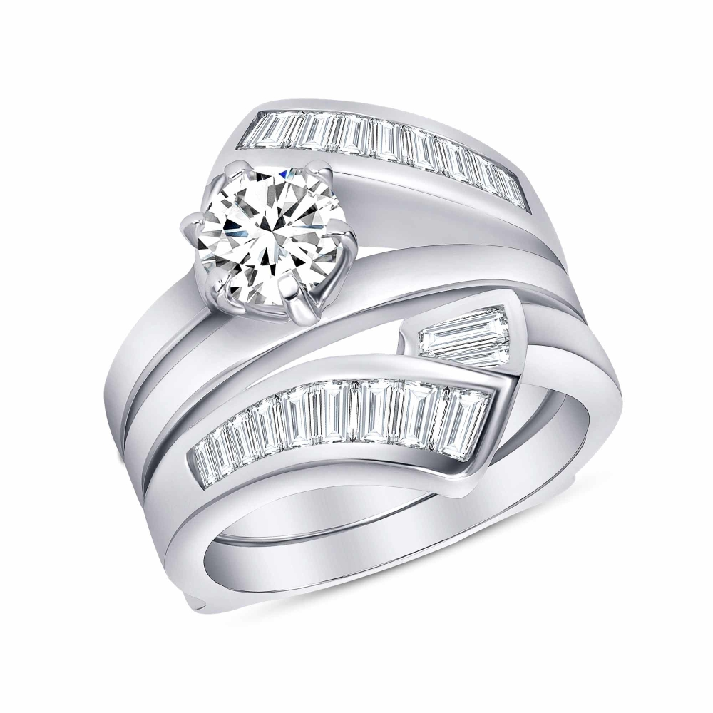 Sterling Silver 2 Piece Wedding Ring
