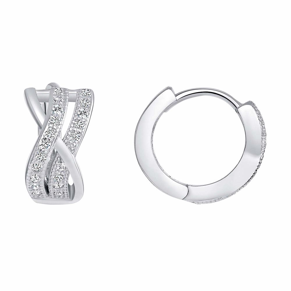 Sterling Silver Double Infinity Hoop Earring