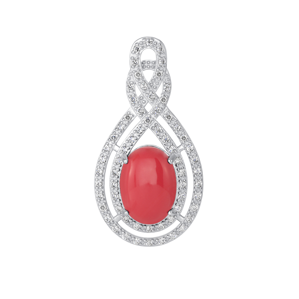 Sterling Silver 2 Row Drop & Coral