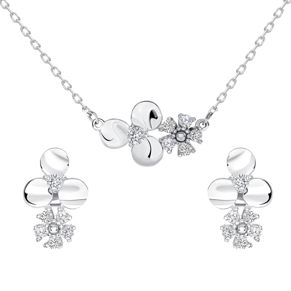 Sterling Silver Flower Set