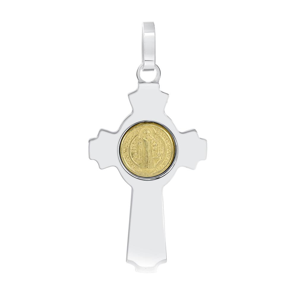 Sterling Silver 2 Tone San Benito Cross