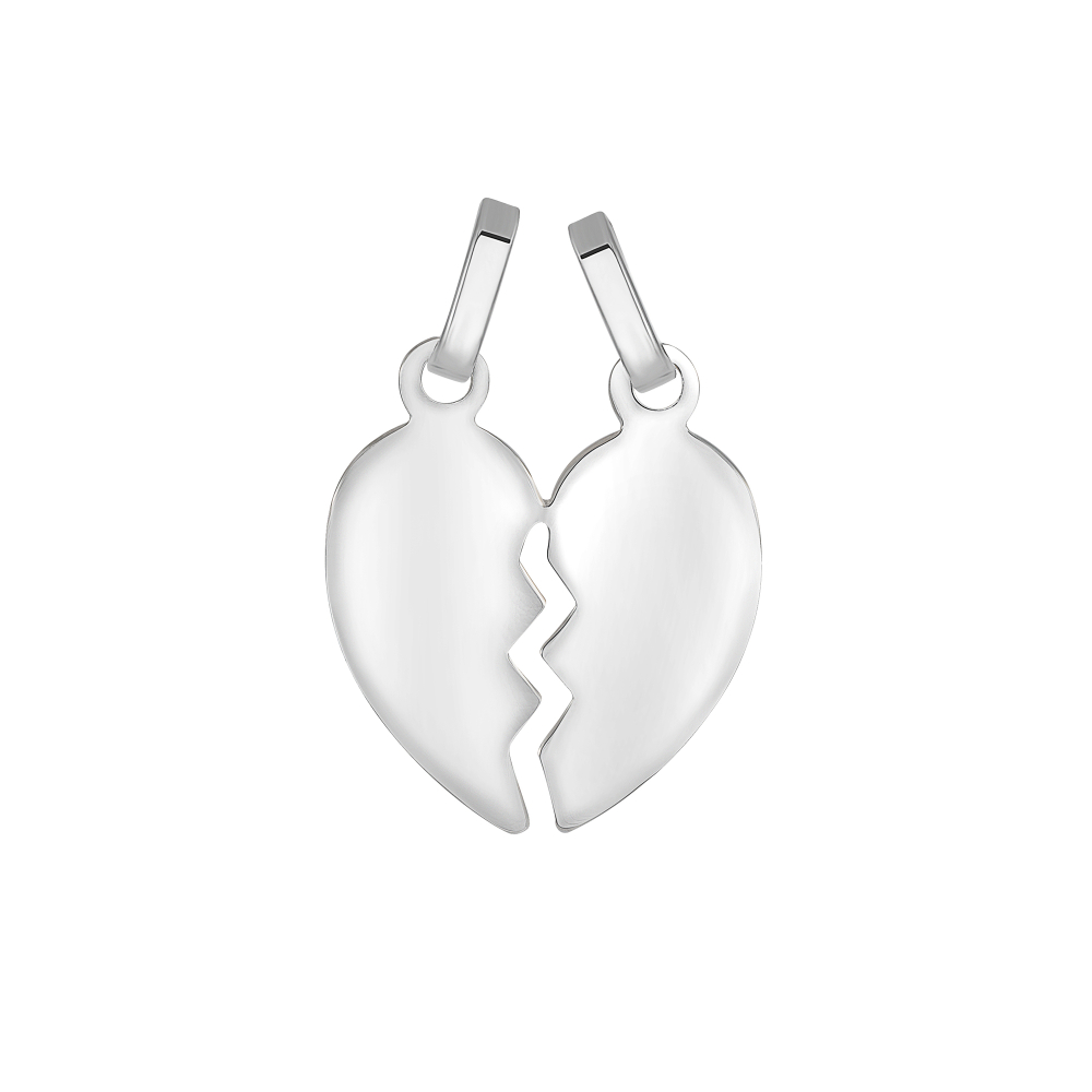 Sterling Silver Broken Heart Pendant
