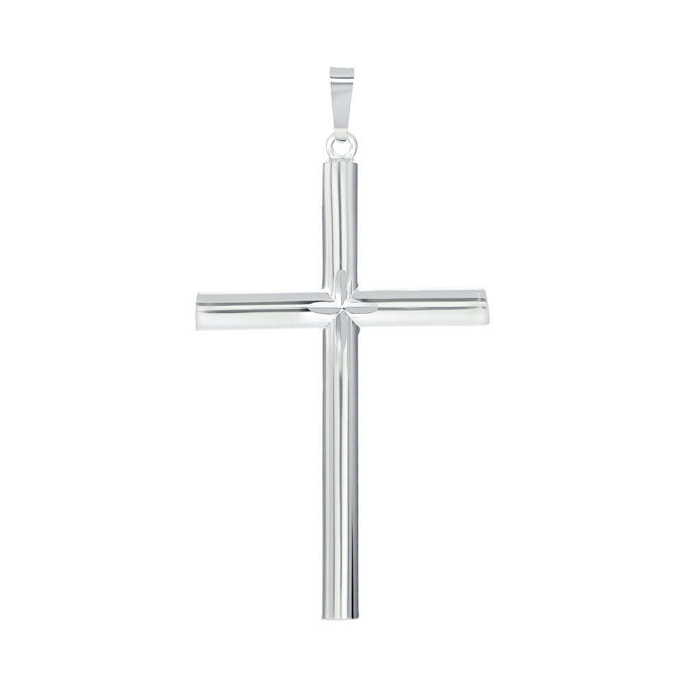 925 Sterling Silver Tube Cross & Cross Pendant