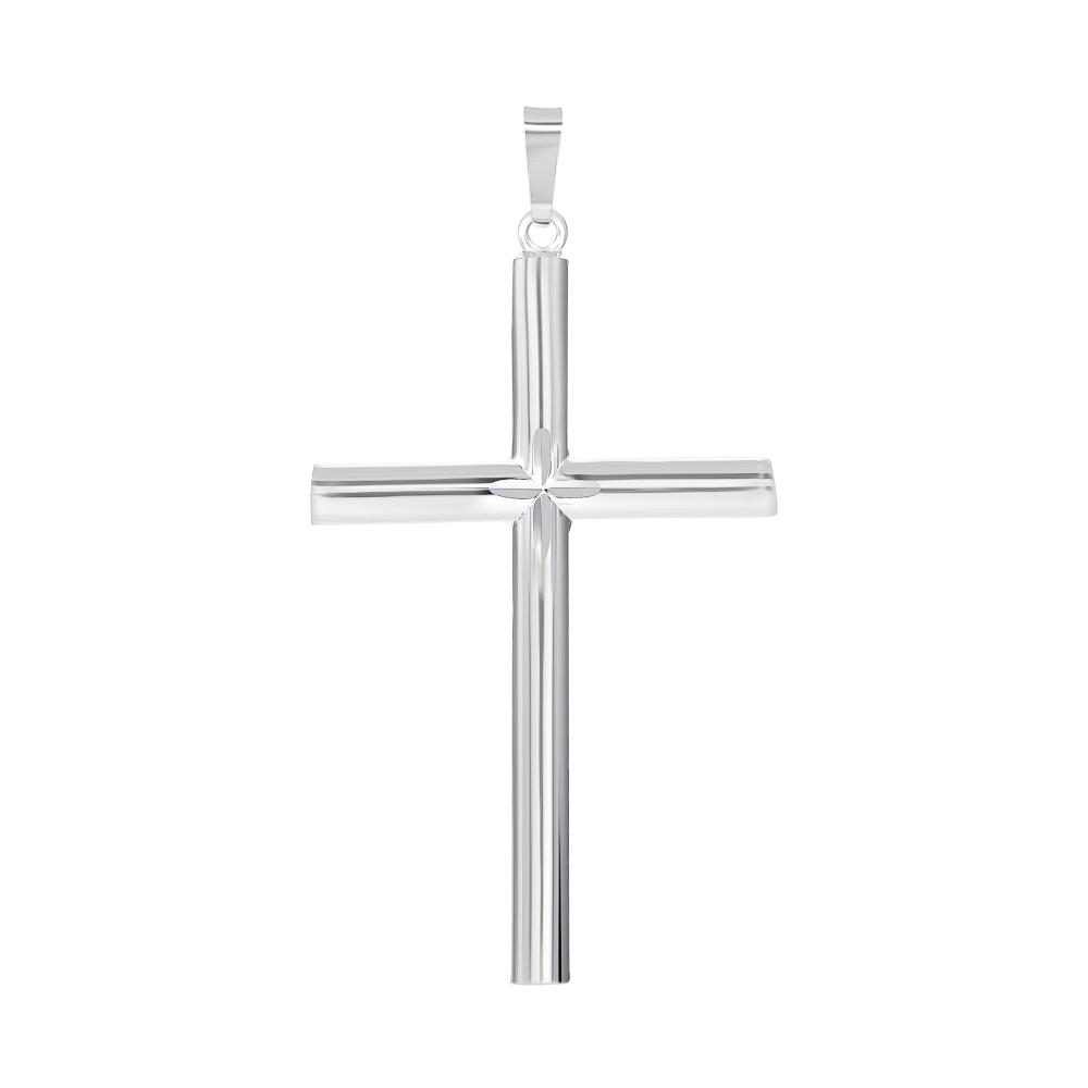 925 Sterling Silver Tube Cross & Cross Pendant