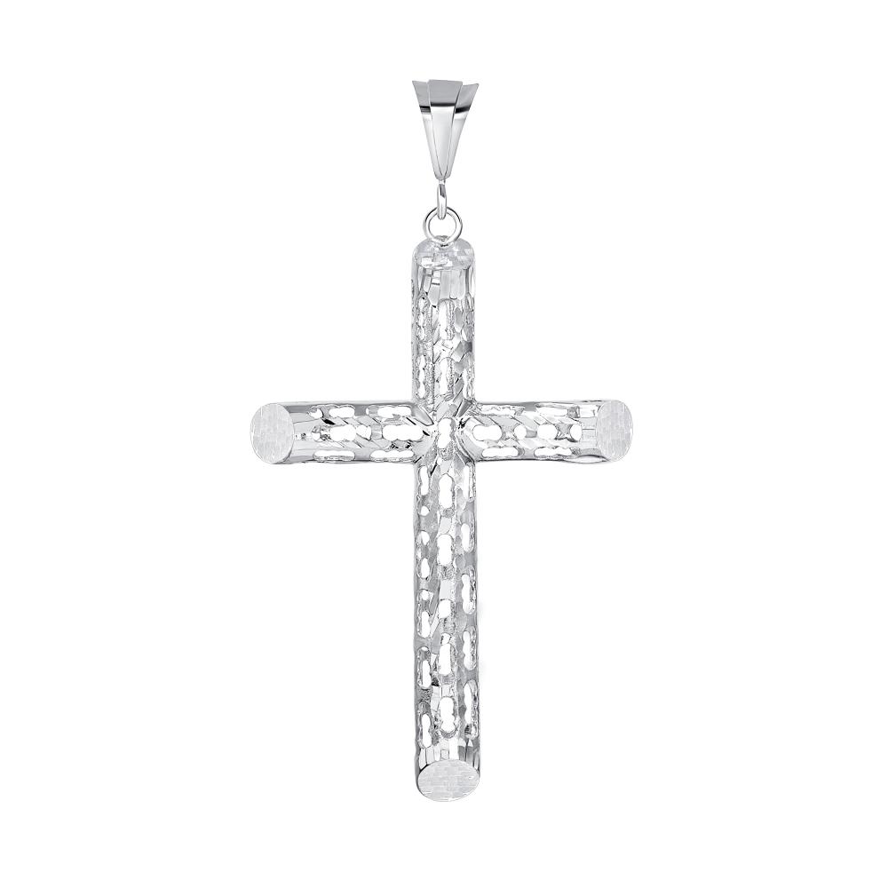 Sterling Silver Tube Fliggerie Cross Pendant