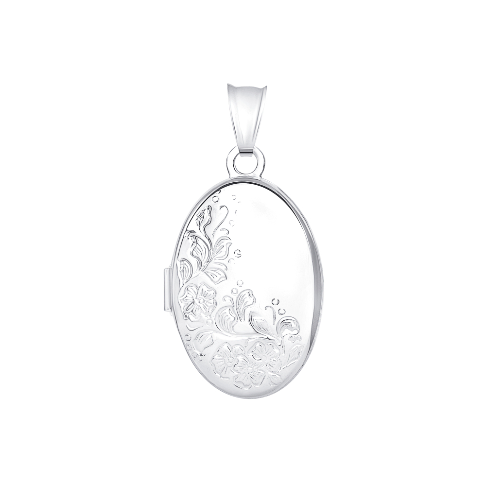 Sterling Silver Plain Oval Pendant