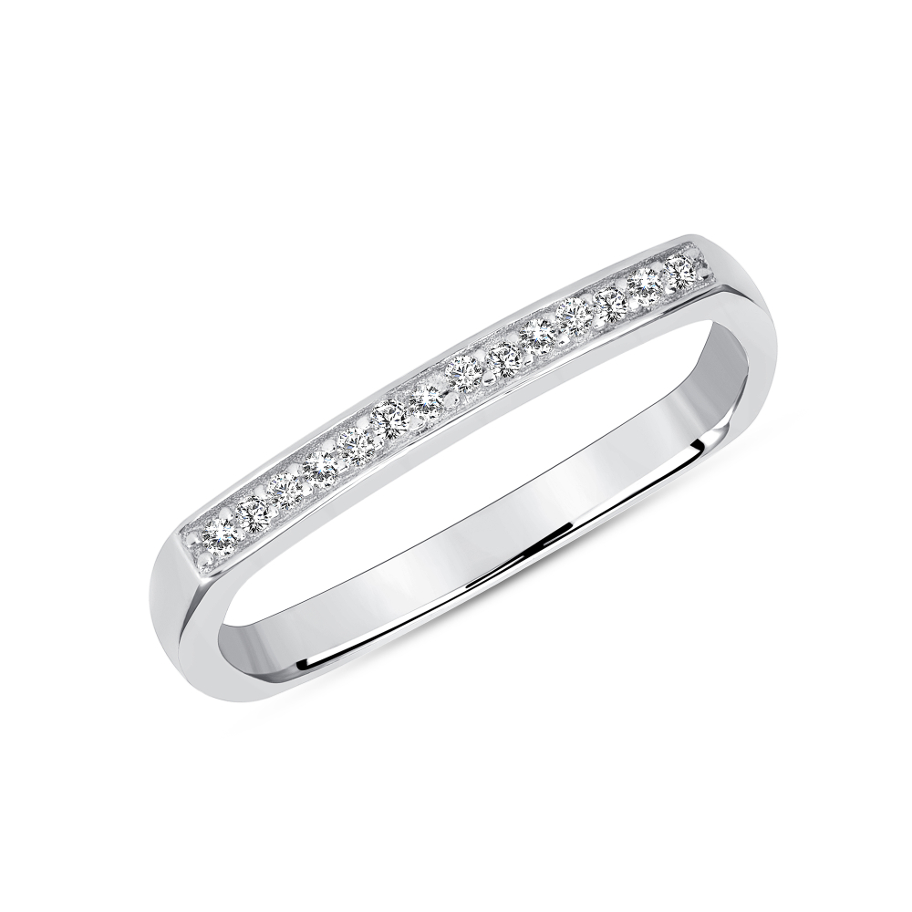 Sterling Silver Square Nid Finger Band