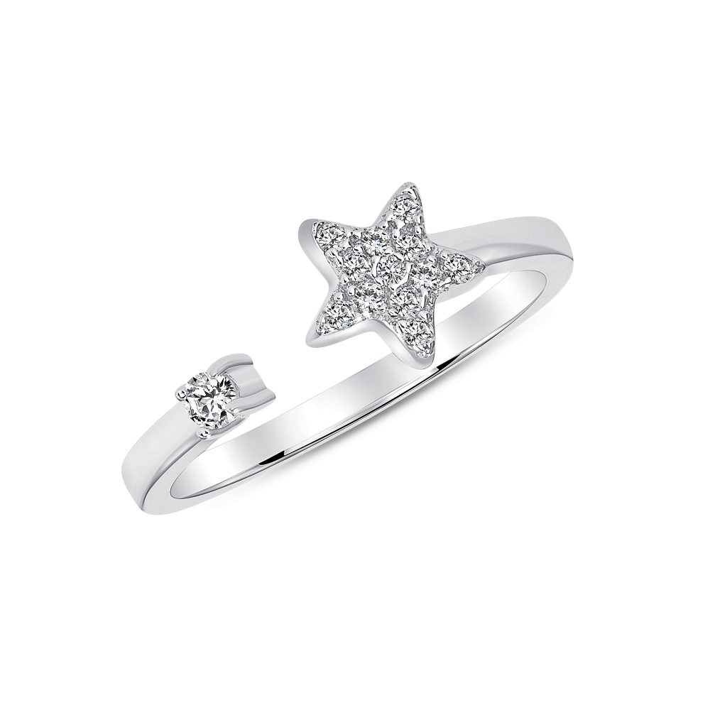 Sterling Silver Endless Star Ring