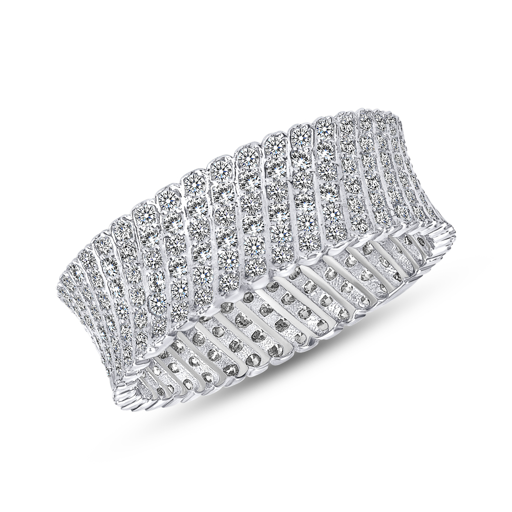 Sterling Silver Pave Setting Band