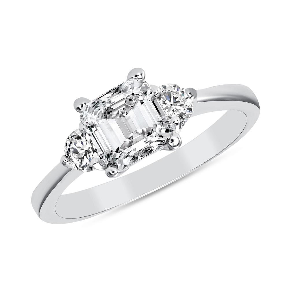 Sterling Silver Princess Cut Ring