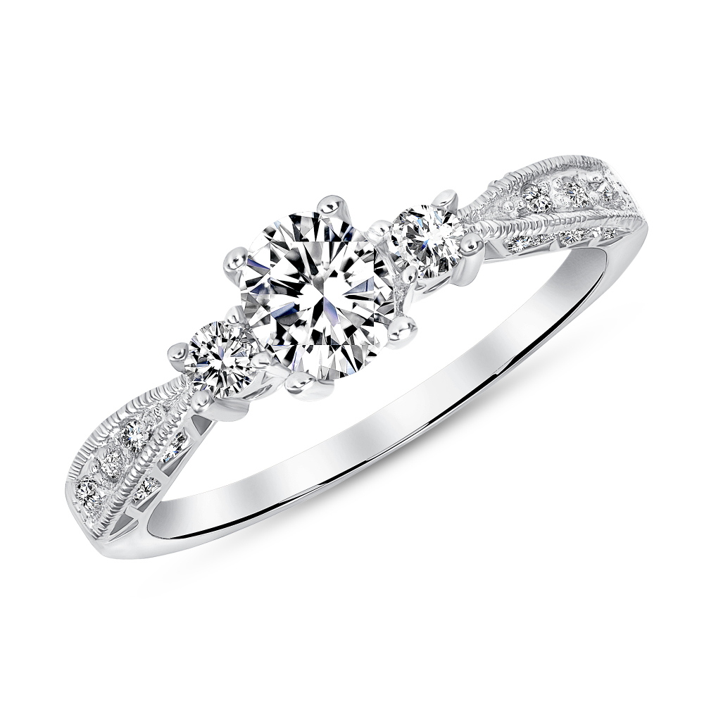 Sterling Silver Oval Engagement Ring