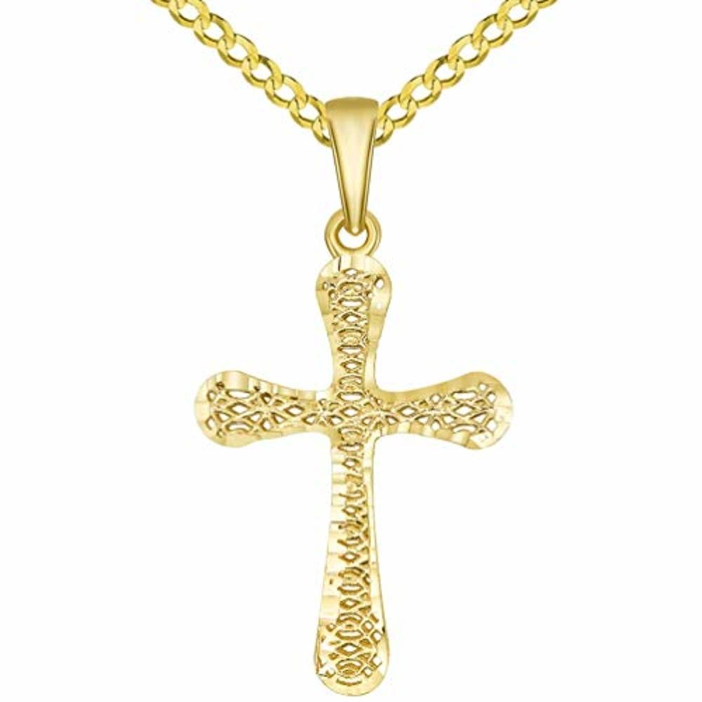 3-D Religious Cross Pendant