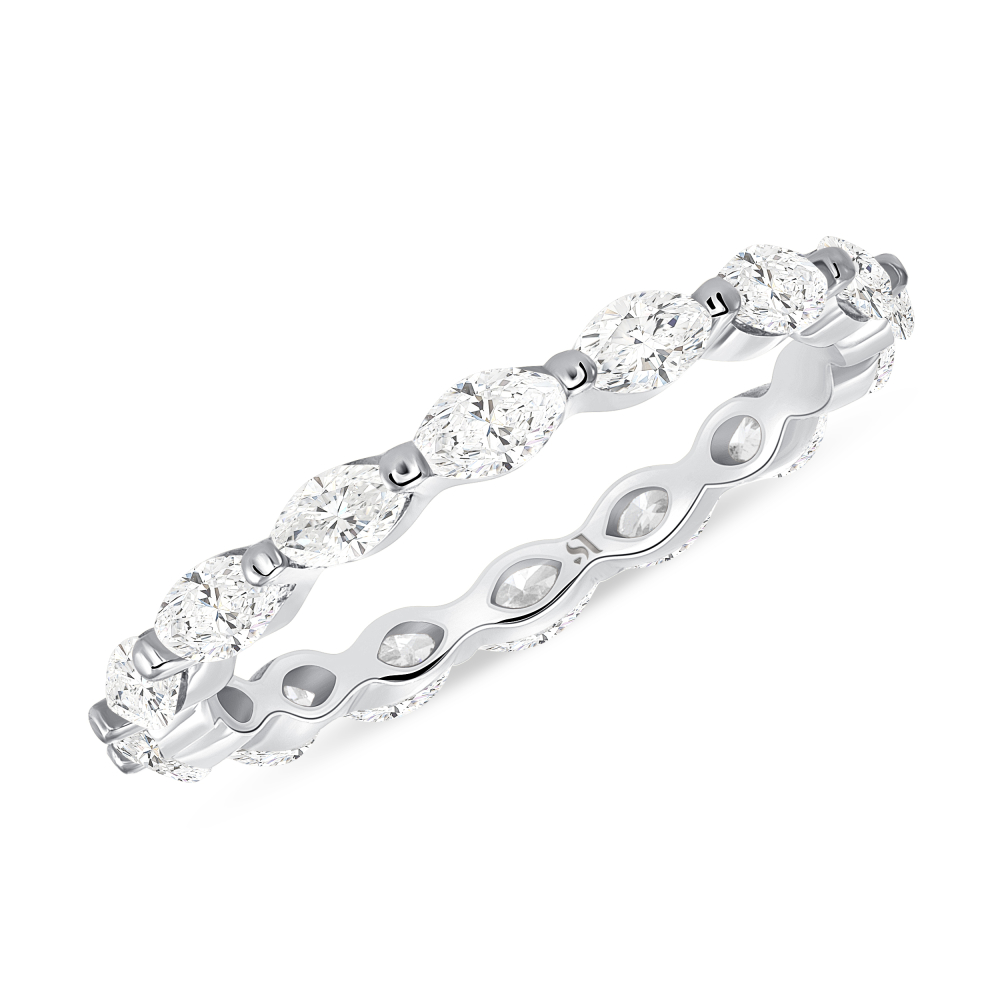 marquise eternity band white gold