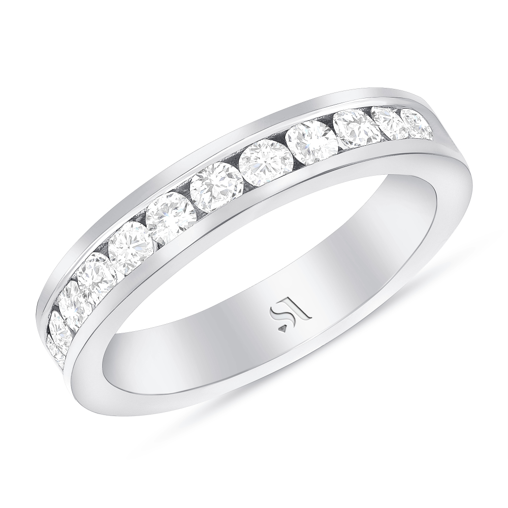 channel setting diamond band