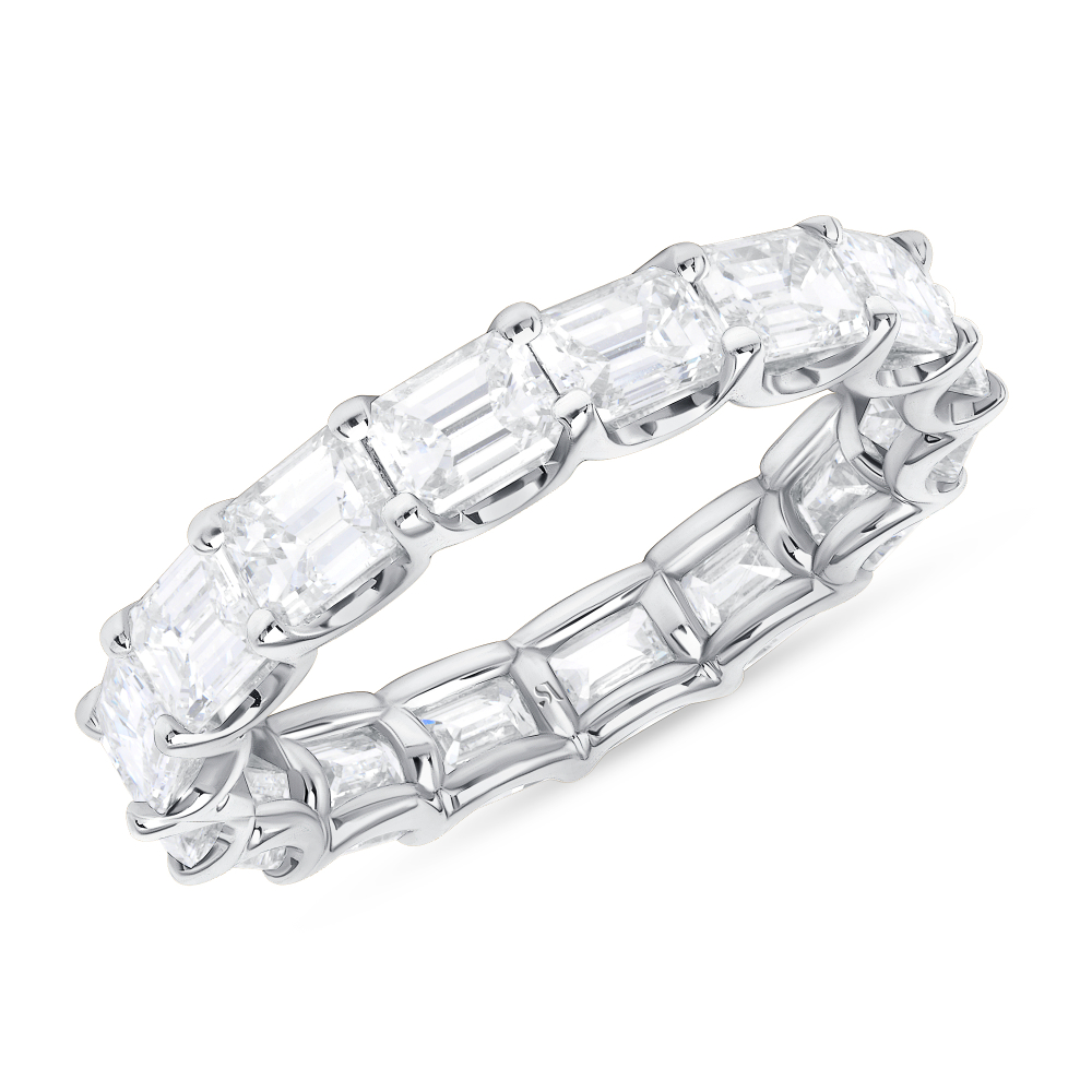 EastWest Emerald Cut Diamond Eternity Band | emerald cut eternity ring