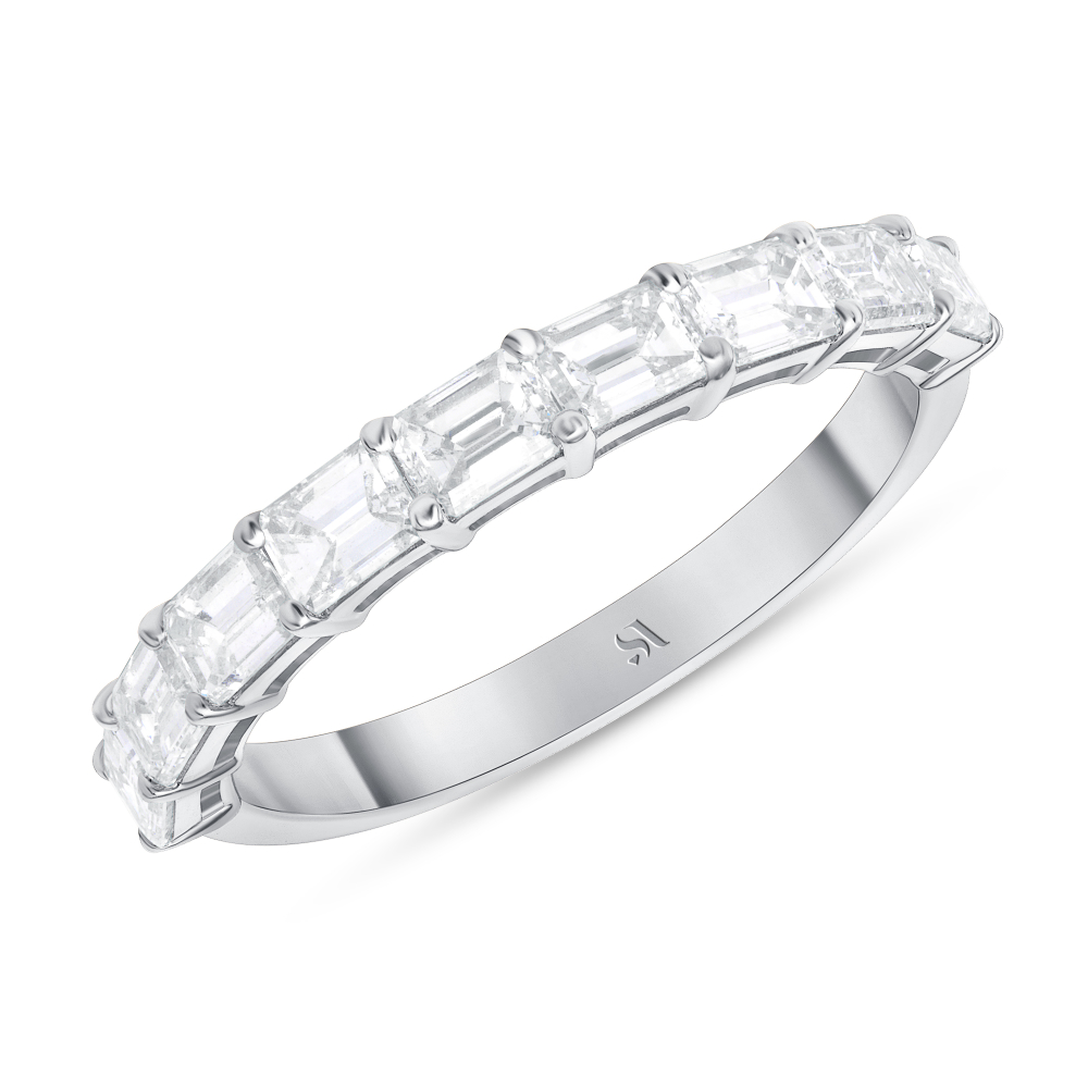 emerald eternity band white gold