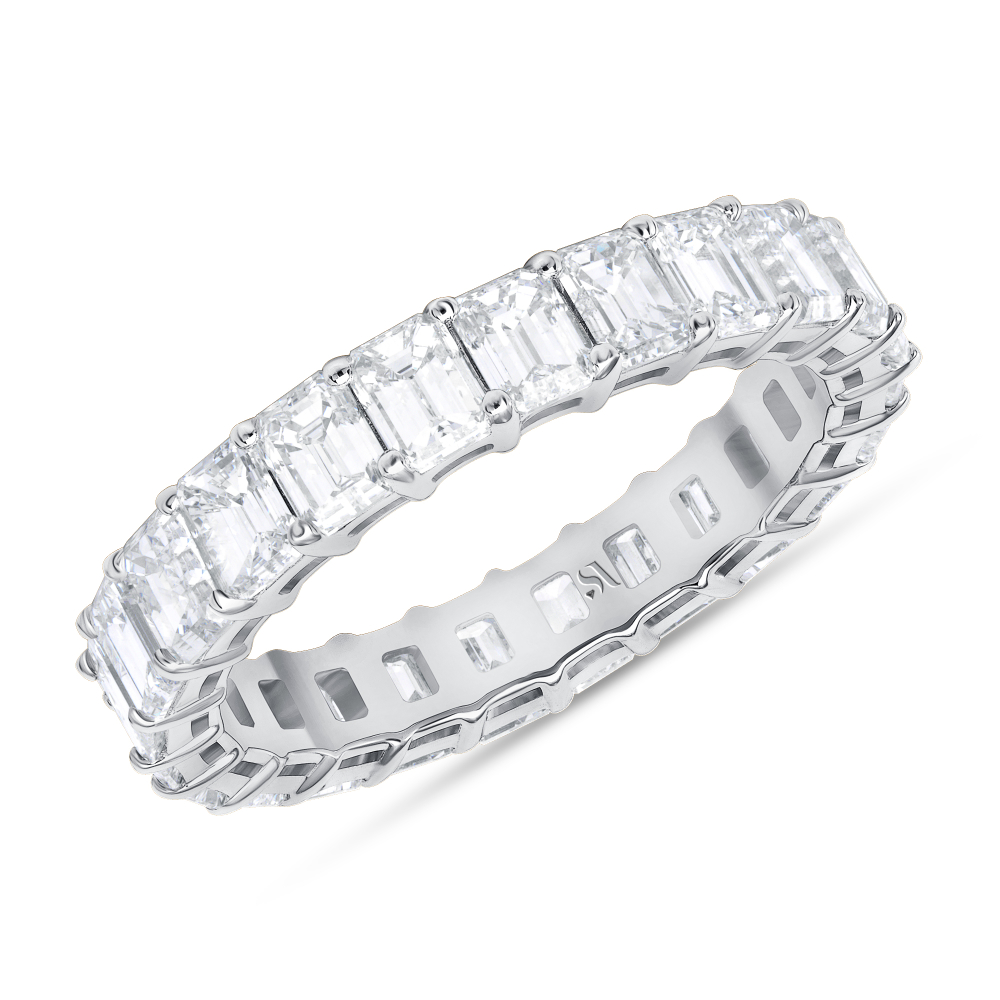 Emerald Cut Diamond Full Eternity Band | Sabrina A Inc