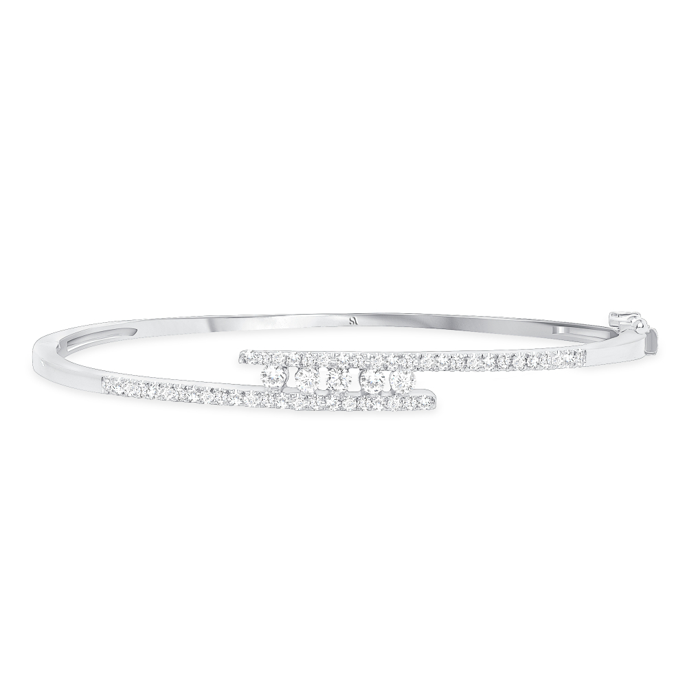 Diamond Bangle with a Twist | Sabrina A Inc