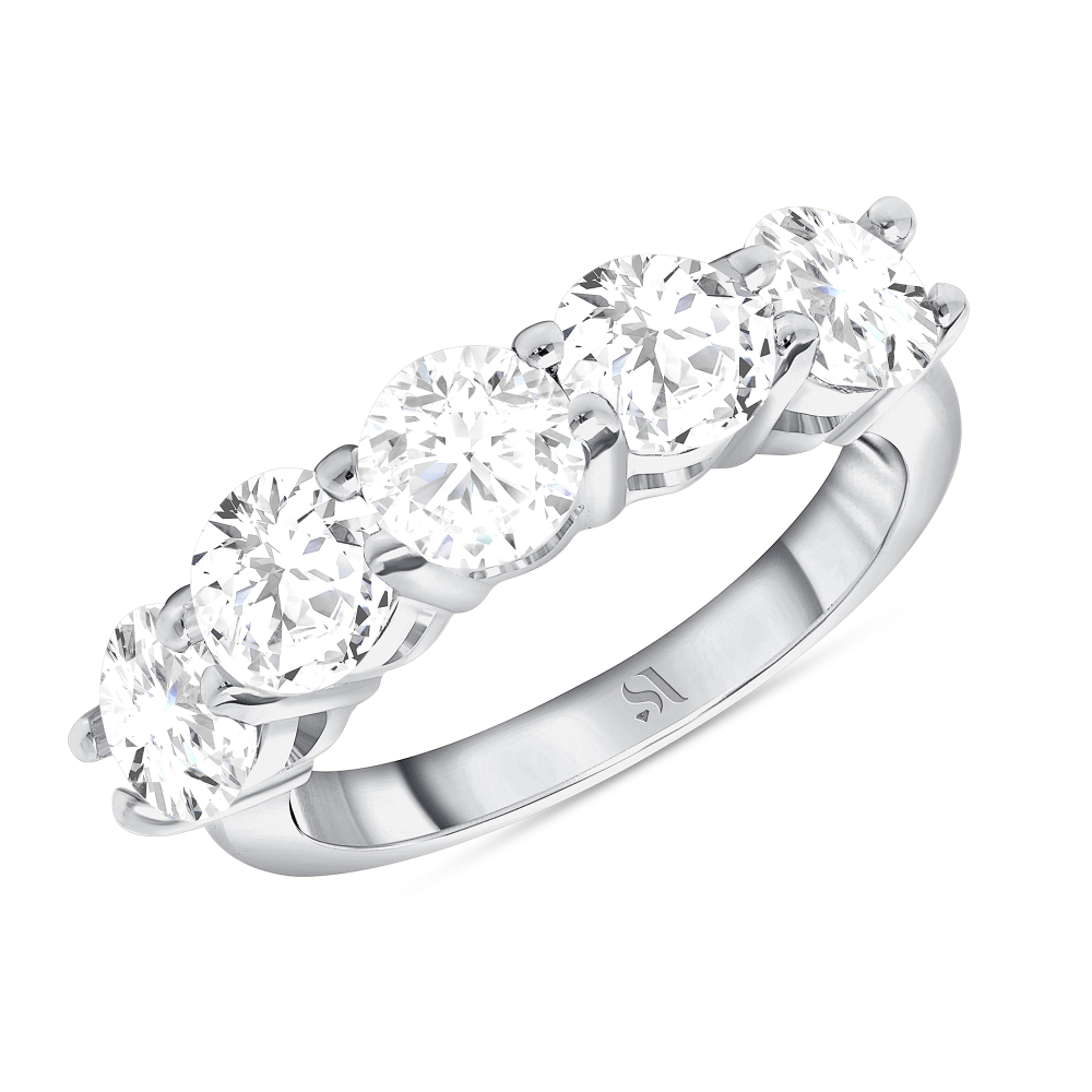 2.5 carat eternity band
