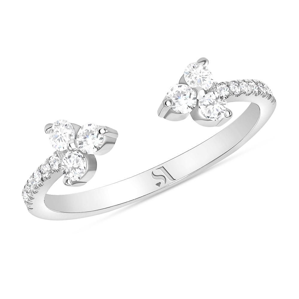 open diamond band white gold