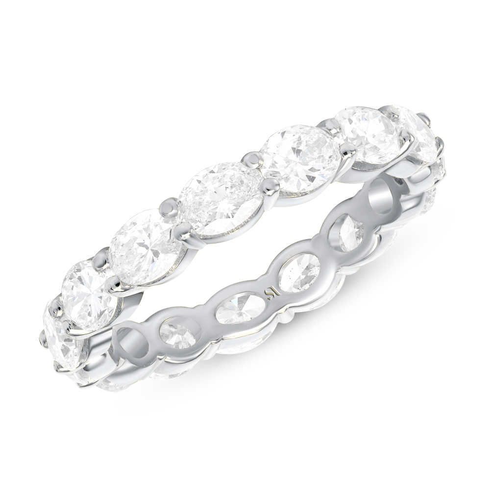 eastwest oval full eternity band