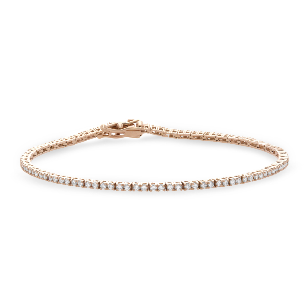 dainty diamond tennis bracelet