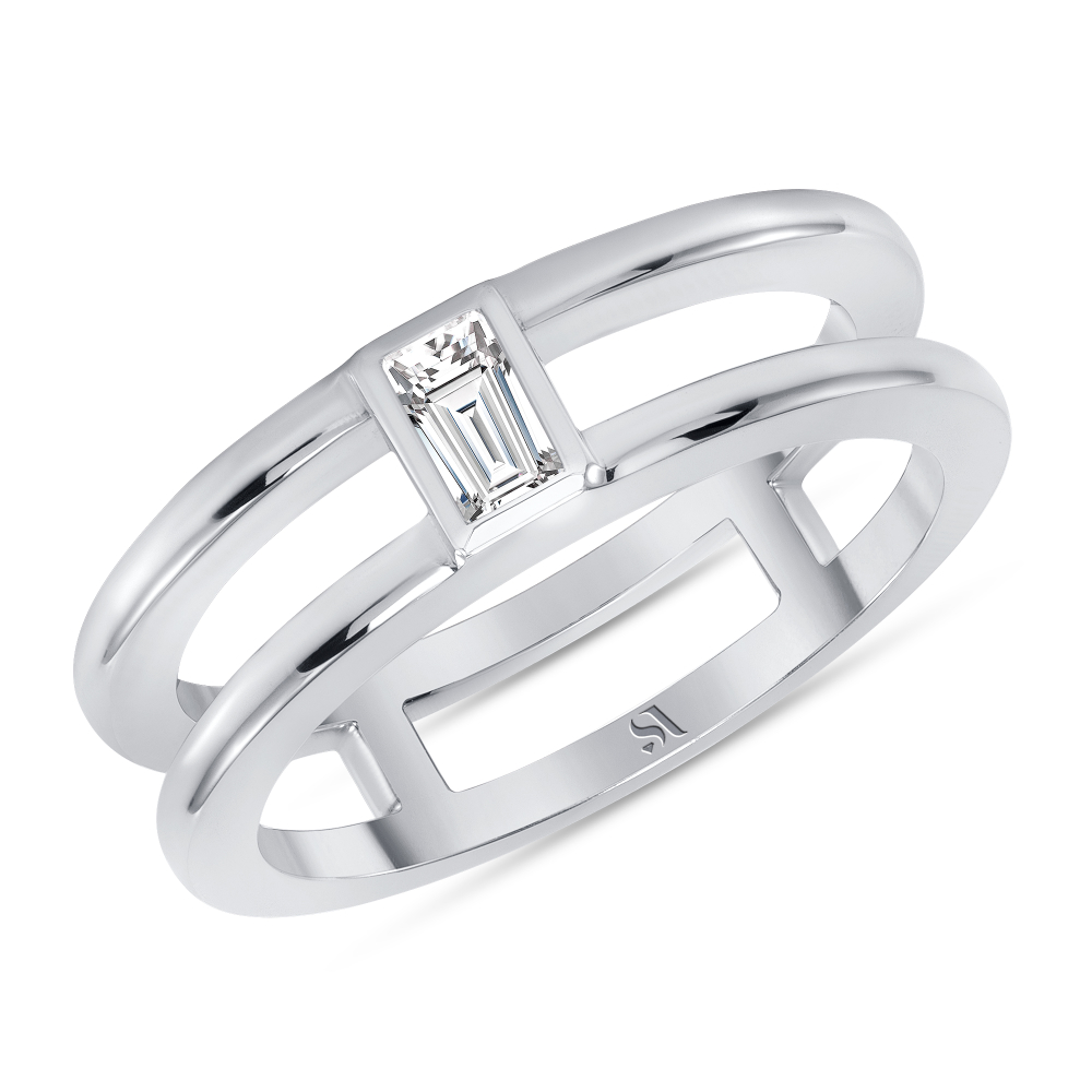 Baguette Diamond Double Band