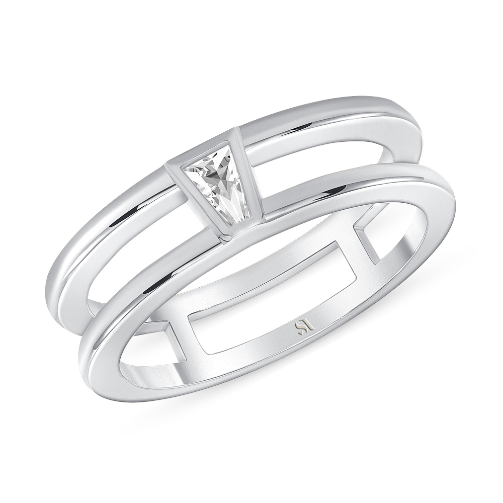 tapered baguette diamond wedding band