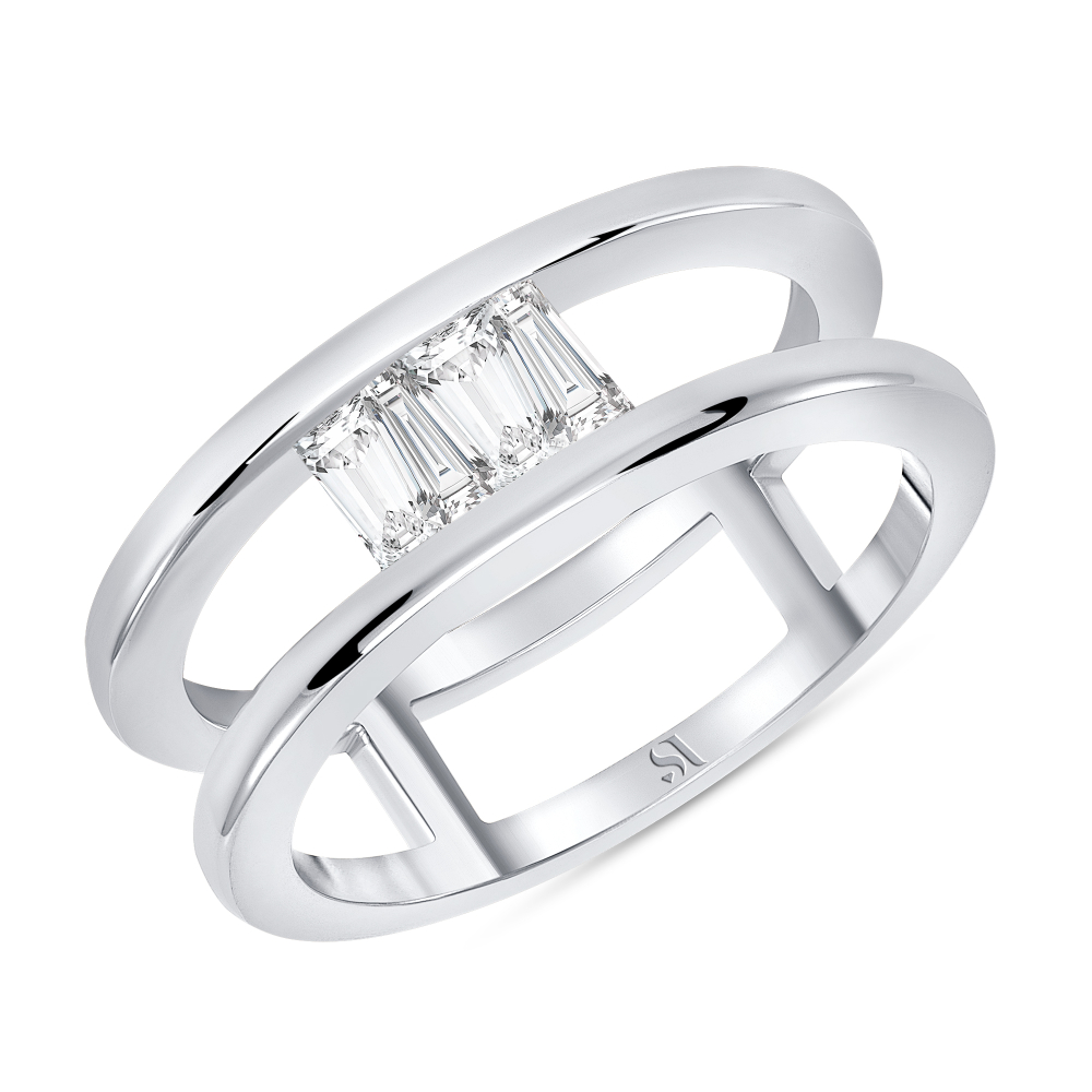 Upside Down Engagement Ring white gold