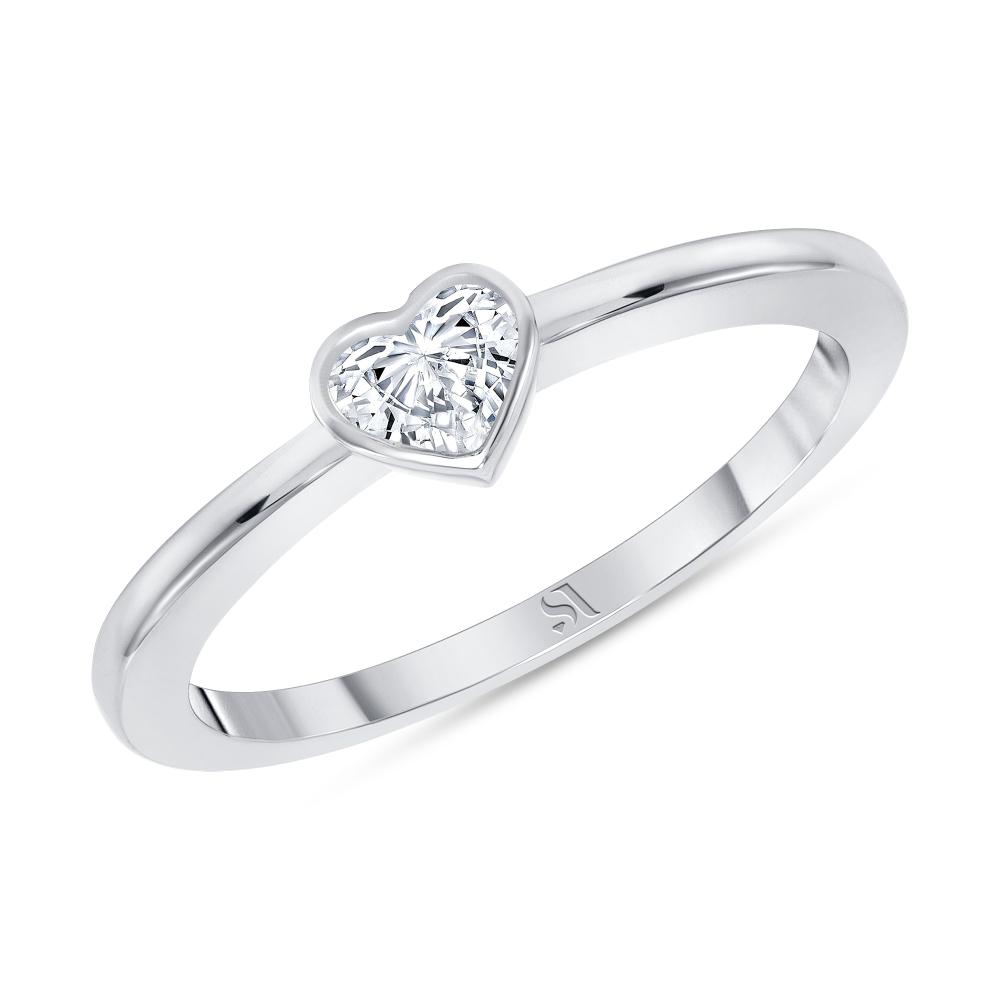 white gold bezel set diamond ring