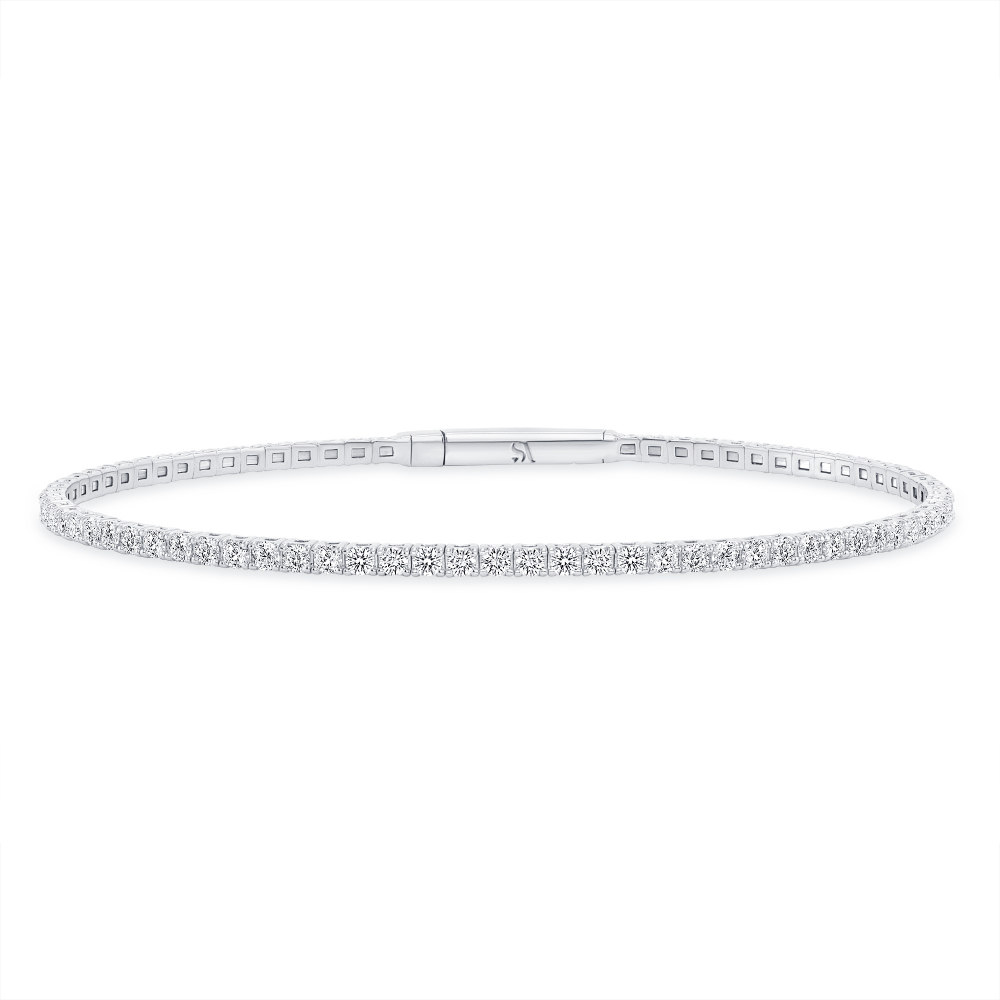 white gold diamond bangle | Sabrina A Inc