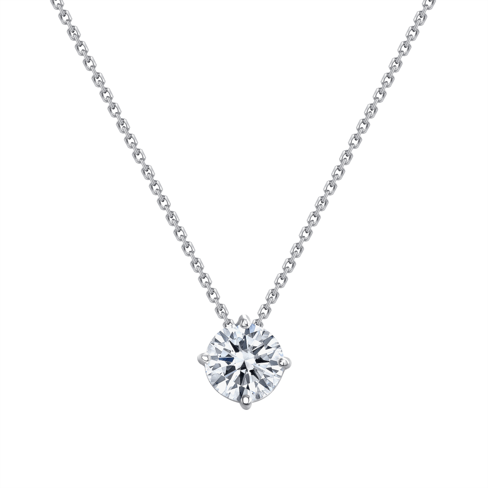 round diamond necklace | solitaire diamond necklace
