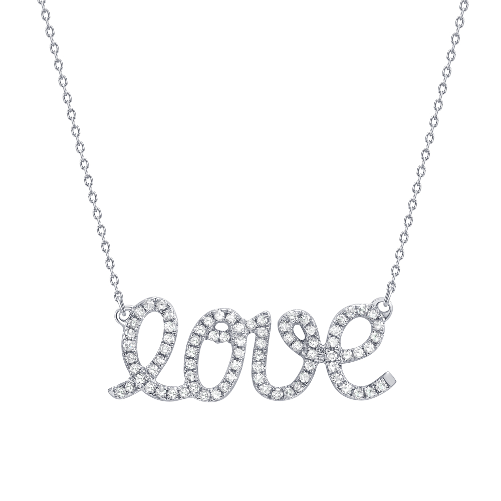 diamond love pendant necklace | love pendant necklace | love necklace with diamonds