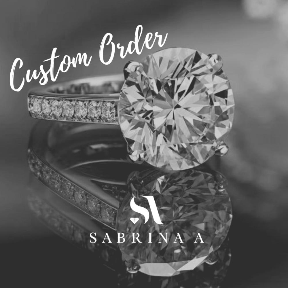Asscher Cut Diamond Halfway Eternity Ring (Custom Order for Jorge)