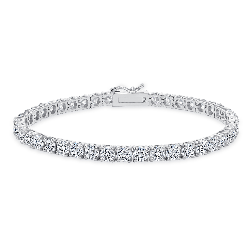14k white gold tennis bracelets