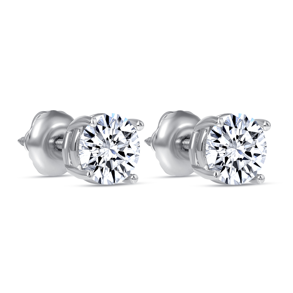 diamond stud earrings 2 carat | 2 carat diamond stud earrings price