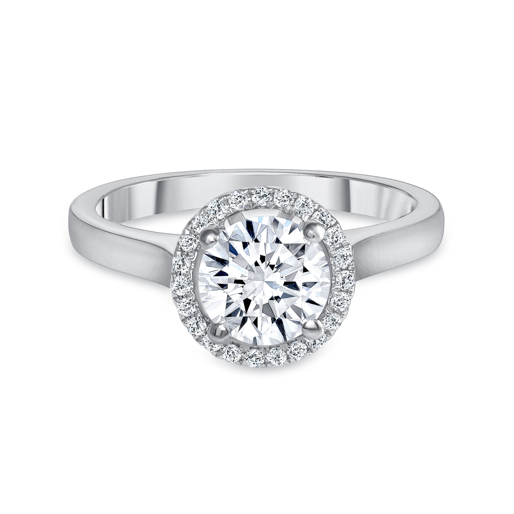 14k diamond ring white gold