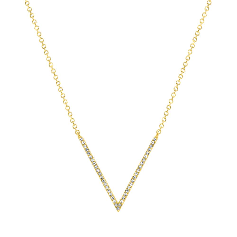 v shaped diamond necklace | v diamond necklace