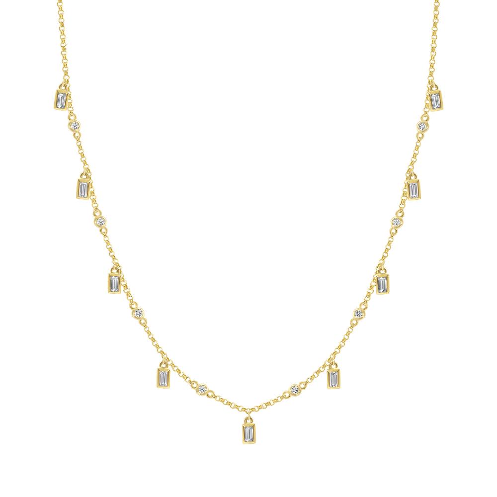 dangle station necklace   dangling diamond necklace