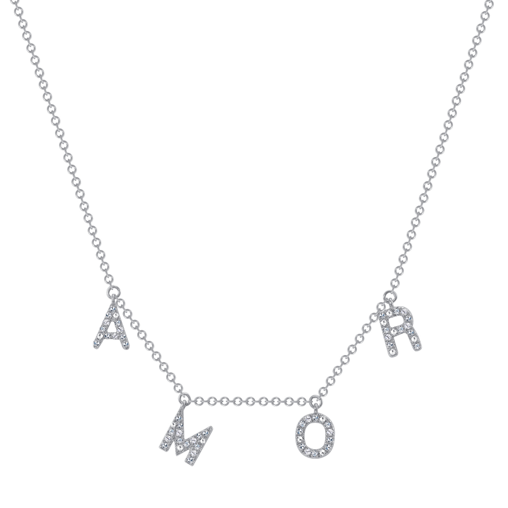 amor necklace white gold | Diamond Collection Inc