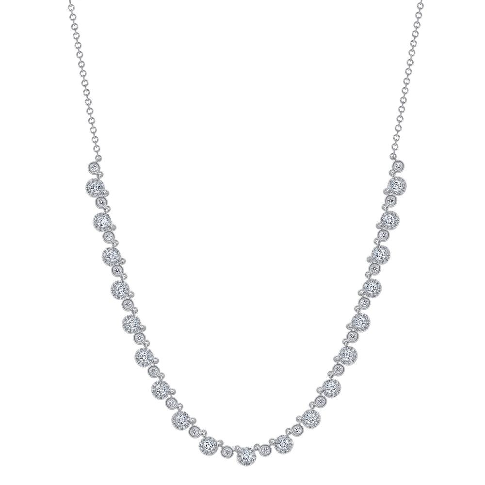 small round diamond necklace | round diamond necklace