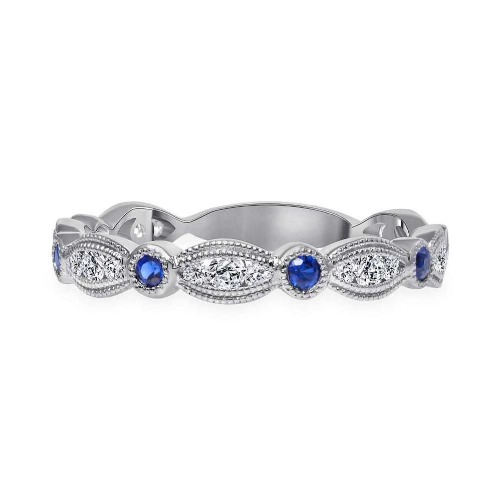 diamond blue sapphire wedding ring | diamond and sapphire wedding ring