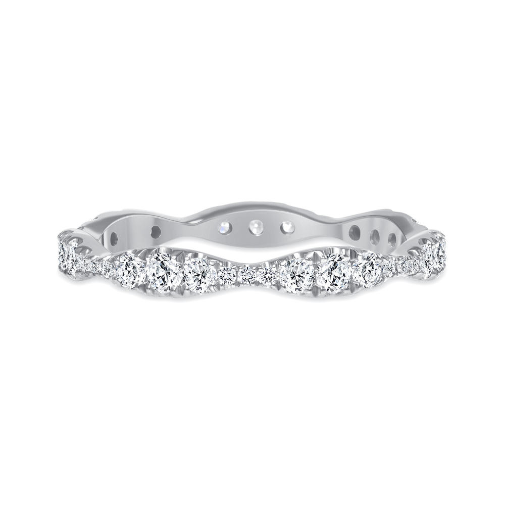 sound wave ring wedding diamond