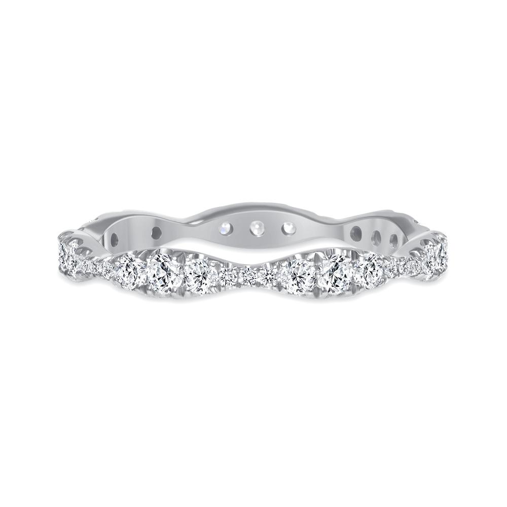 sound wave ring wedding diamond white gold